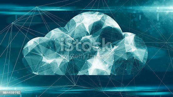 istock Cloud computing online storage for fintech IOT computer network connectivity for devices 864459140