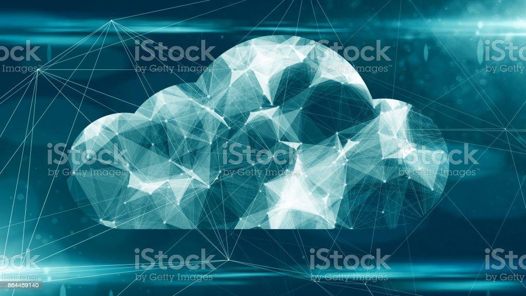 Cloud computing online lagring för fintech IOT dator nätverksanslutning för enheter bildbanksfoto