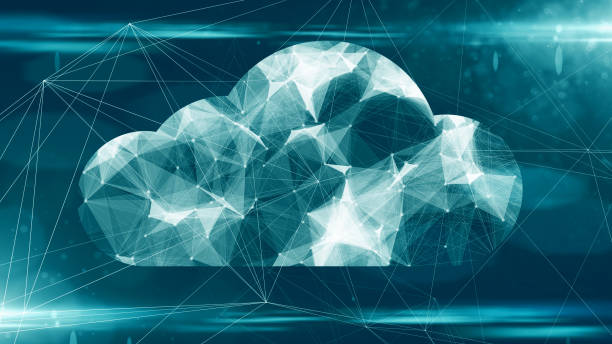 cloud computing online storage for fintech iot computer network connectivity for devices - clouds stock photos and pictures