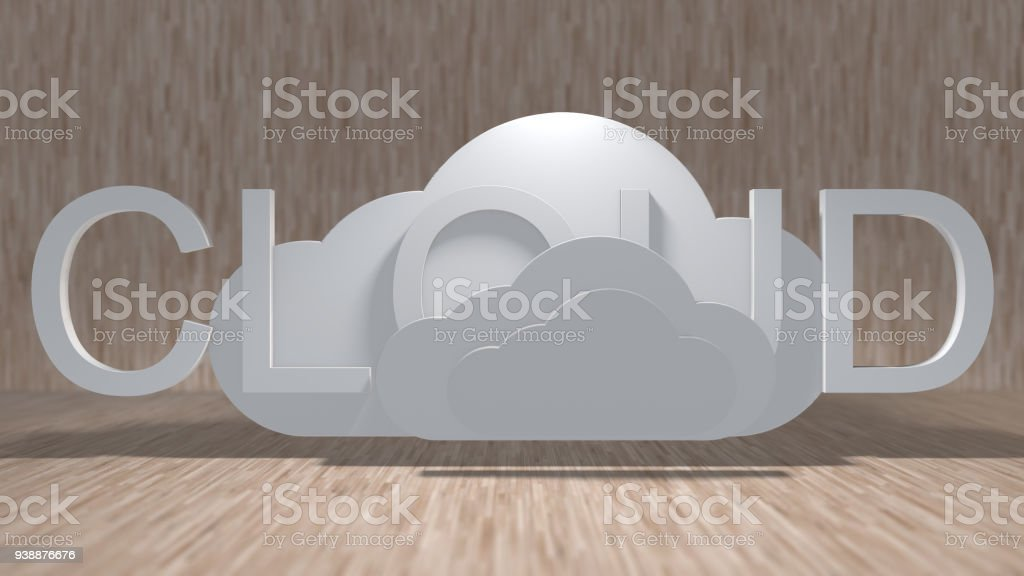 Cloud computing online storage for fintech IOT computer network connectivity for stock photo