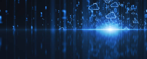 Cloud Computing Concept. 3D render cloud computing stock pictures, royalty-free photos & images