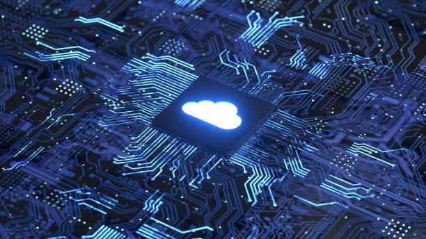cloud computing - telecomando background foto e immagini stock