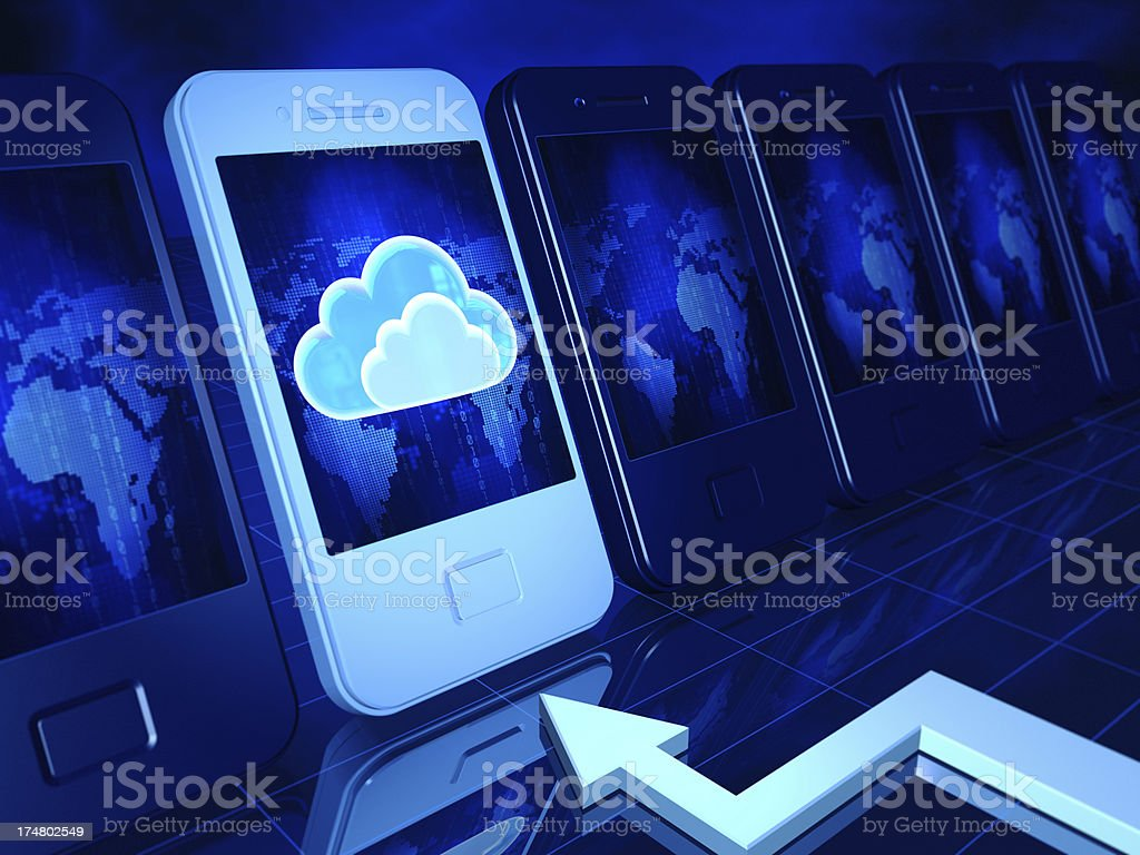Cloud Computing royalty-free stock photo