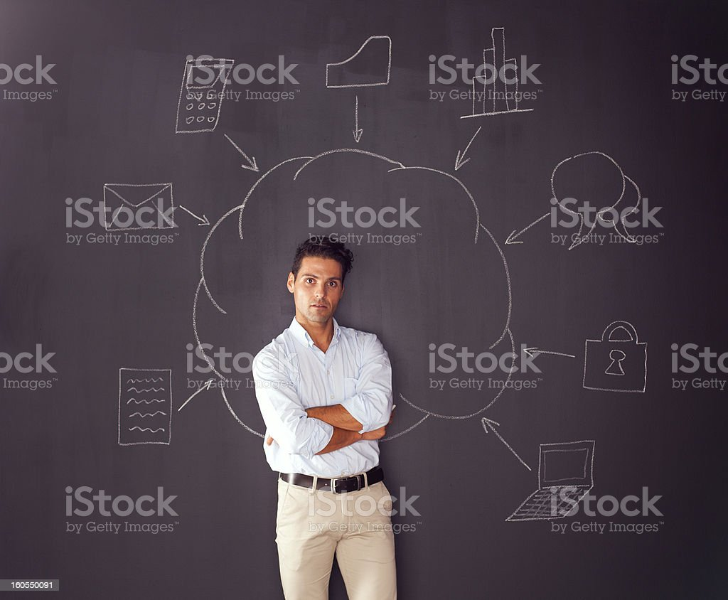 Cloud computing schema royalty-free stock photo