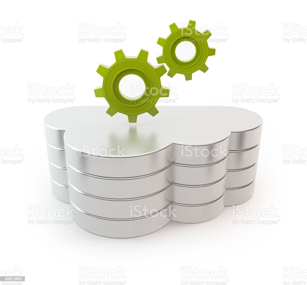Cloud computing server - Gears stock photo