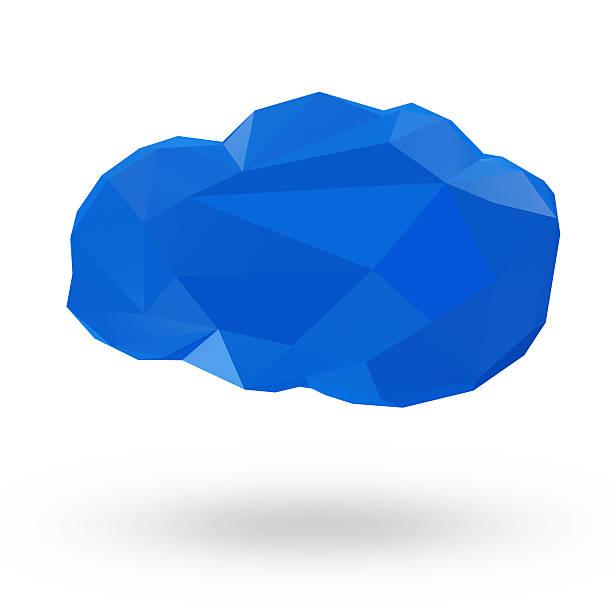cloud computing-symbol im origami-stil - origami mobil stock-fotos und bilder