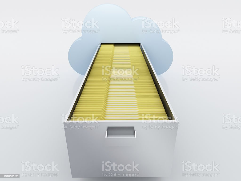 Cloud computing technology royalty-free stock photo