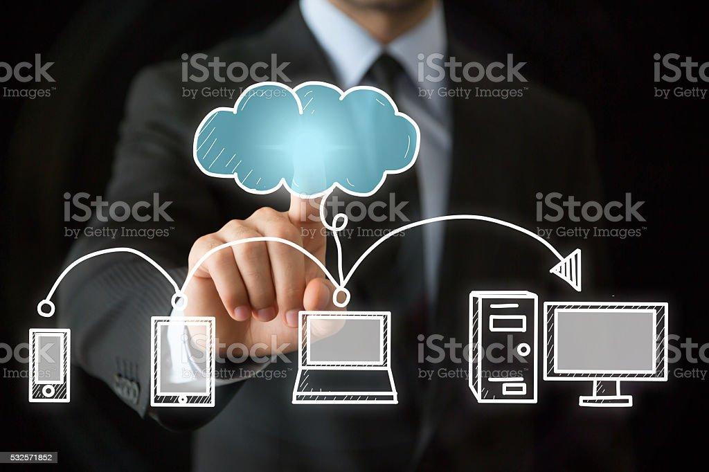 Cloud Computing Technology stock photo