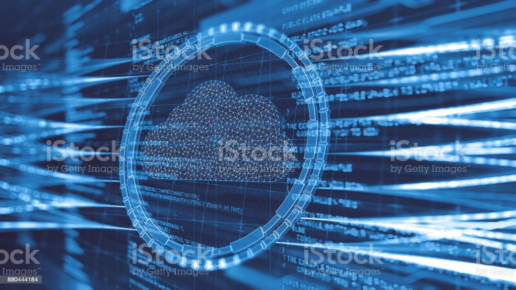Cloud computing technology stock photo