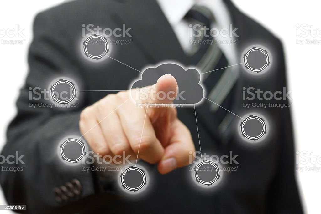 Cloud computing,networking and connectivity stock photo