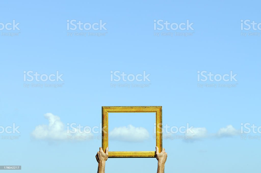Cloud Computing.The Window of Opportunity royalty-free stock photo