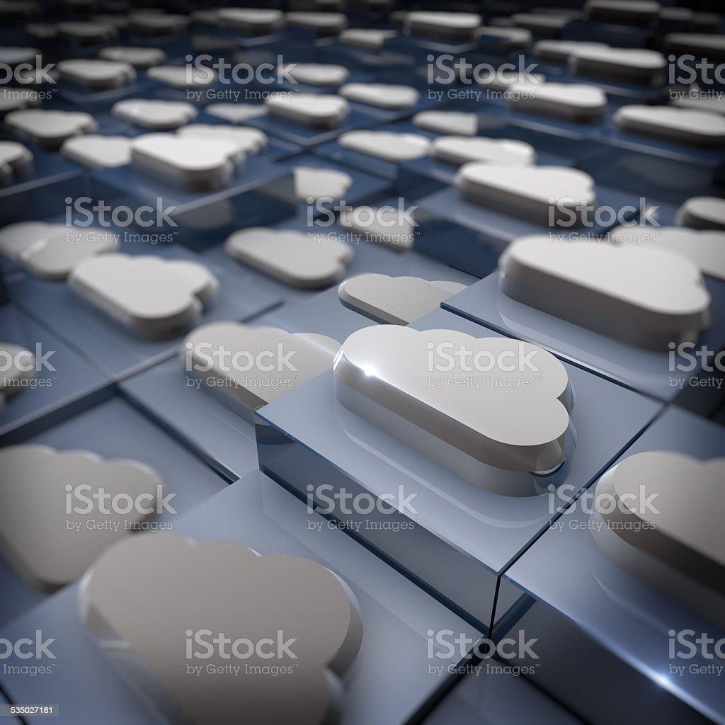 Cloud Comuting Backup royalty-free stock photo