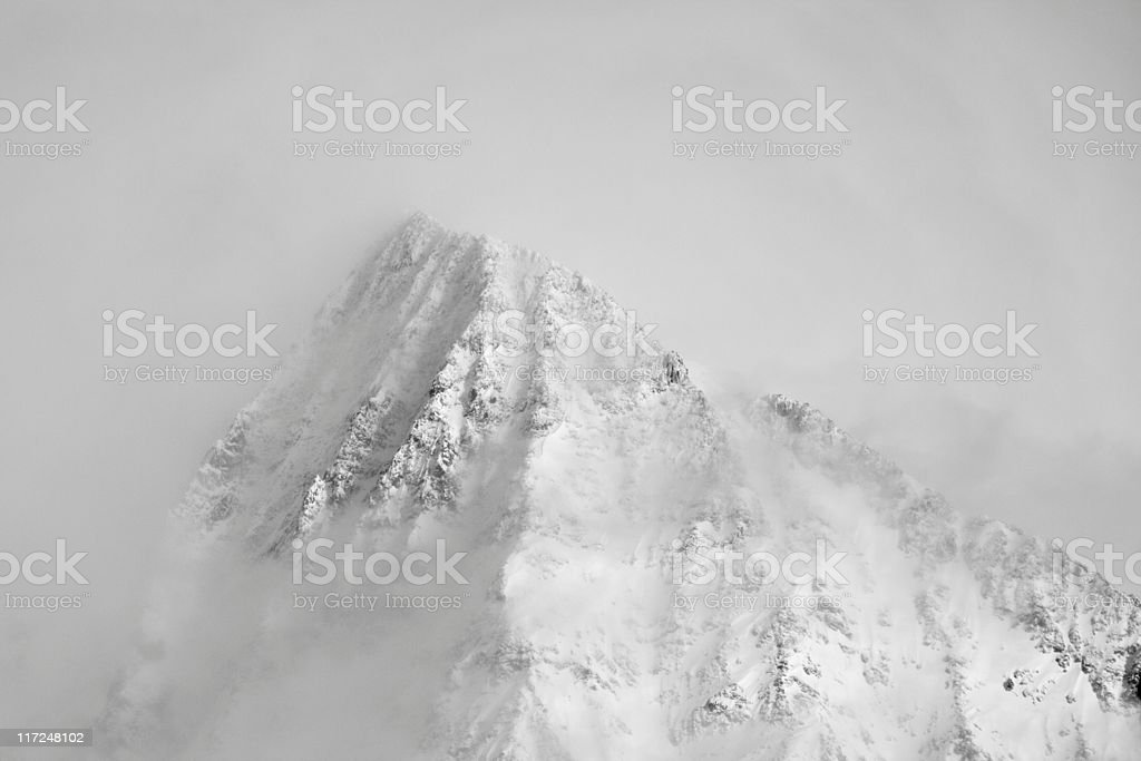 Cloud Covered Mountain royalty-free stock photo