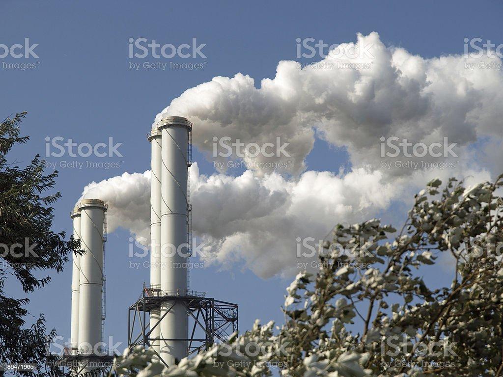 Cloud de fábrica foto de stock libre de derechos