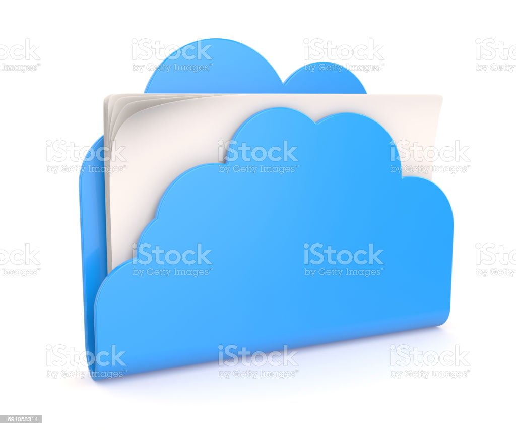 Cloud folder stock photo