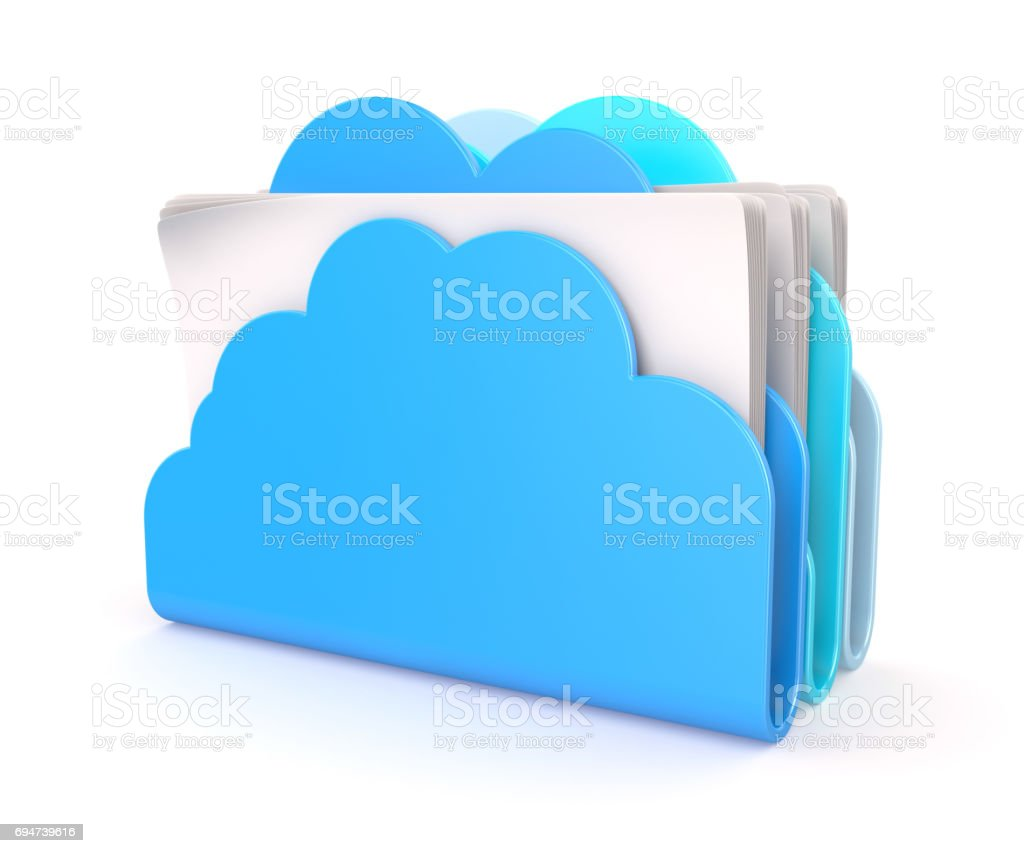Cloud folders stock photo
