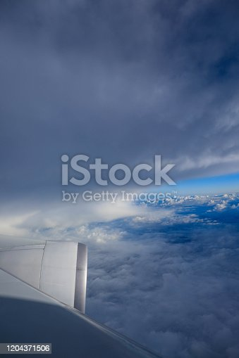 cloud formation and blue sky for natural background.