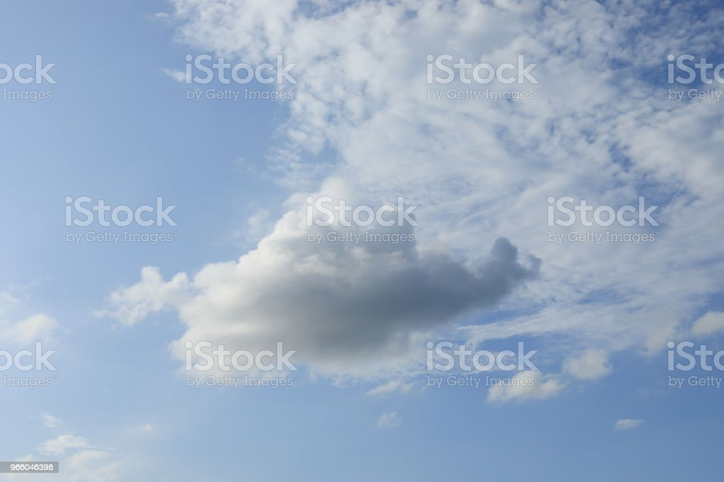 wolkenvorming over de berg - Royalty-free Azië Stockfoto