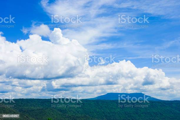 Cloud Formation Over The Mountain Stock Photo - Download Image Now