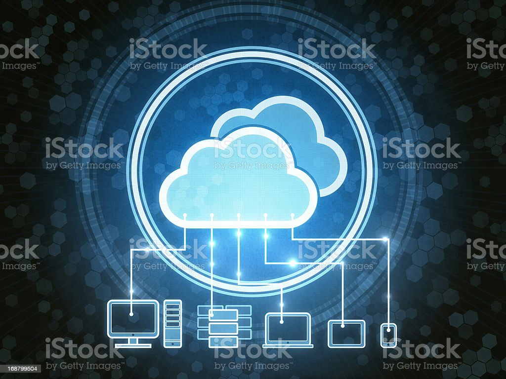 Cloud Gadgets - Royalty-free Abstract Stock Photo