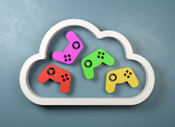 Cloud Gaming Service Concept Illustration – Foto