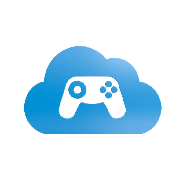 Cloud Gaming Service Konzept Illustration – Foto