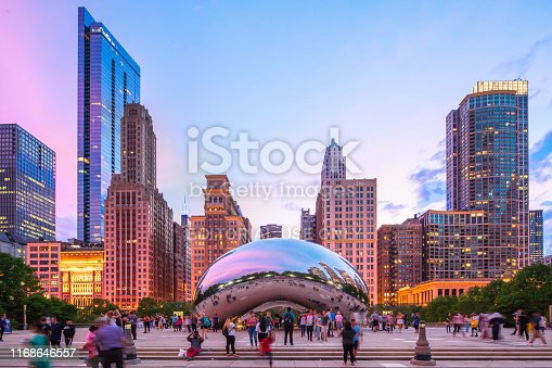 August 16, 2019 - Chicago, USA - Cloud Gate also Called