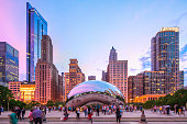 August 16, 2019 - Chicago, USA - Cloud Gate also Called \