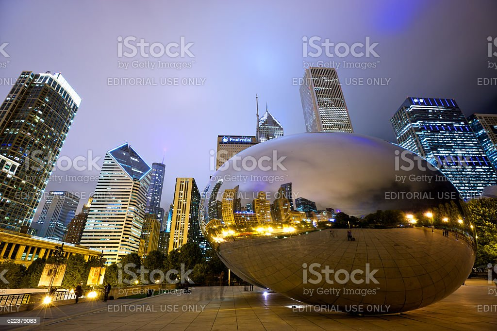 Cloud Gate Bean stock photo