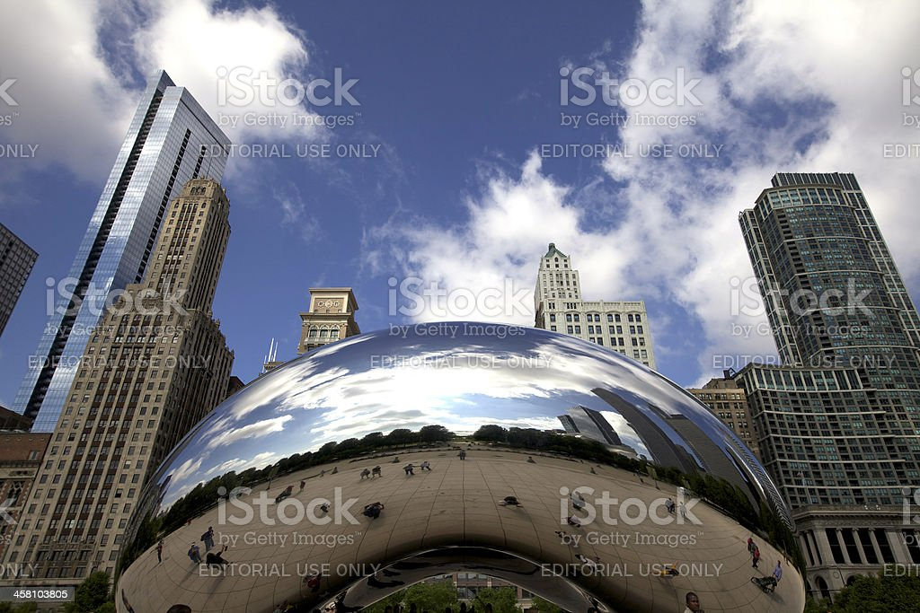Cloud Gate, Chicago stock photo