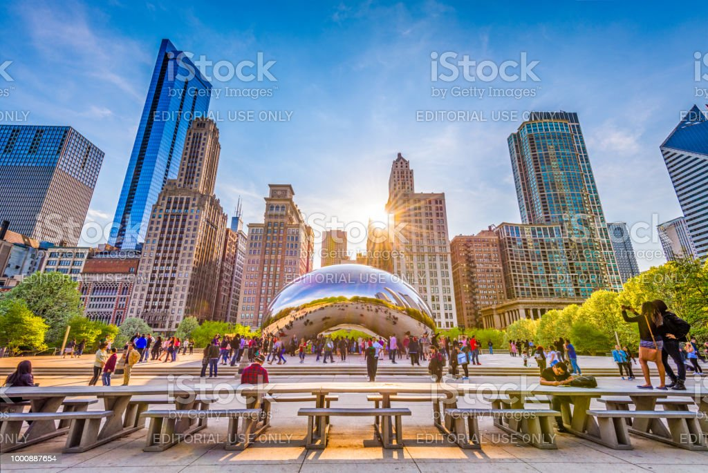 Cloud Gate in Chicago, Illinois stock photo