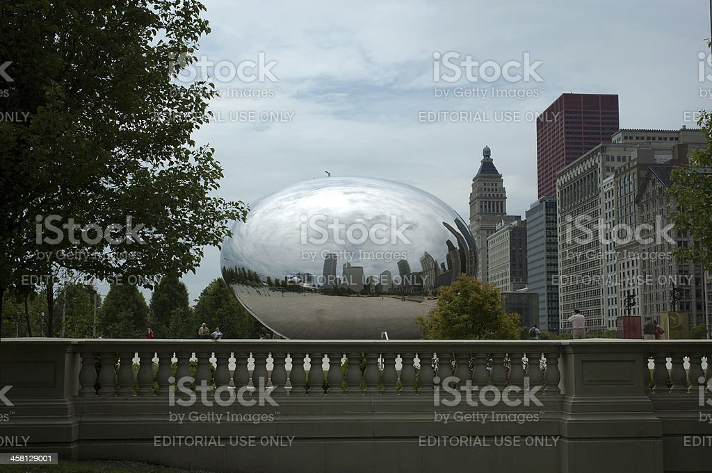 CHICAGO, ILLINOIS - MAY 25, 2006: Cloud Gate stock photo