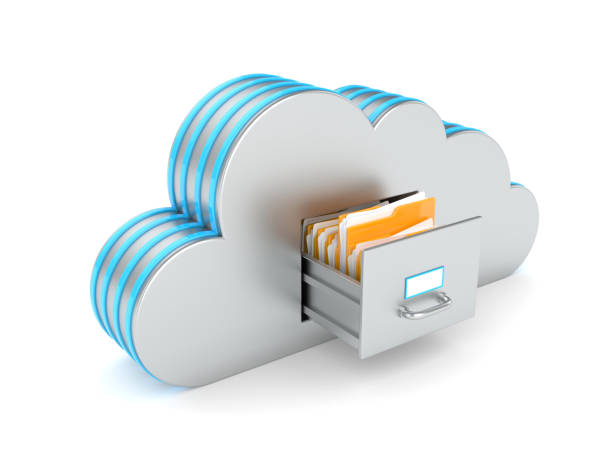 Cloud hosting stock photo
