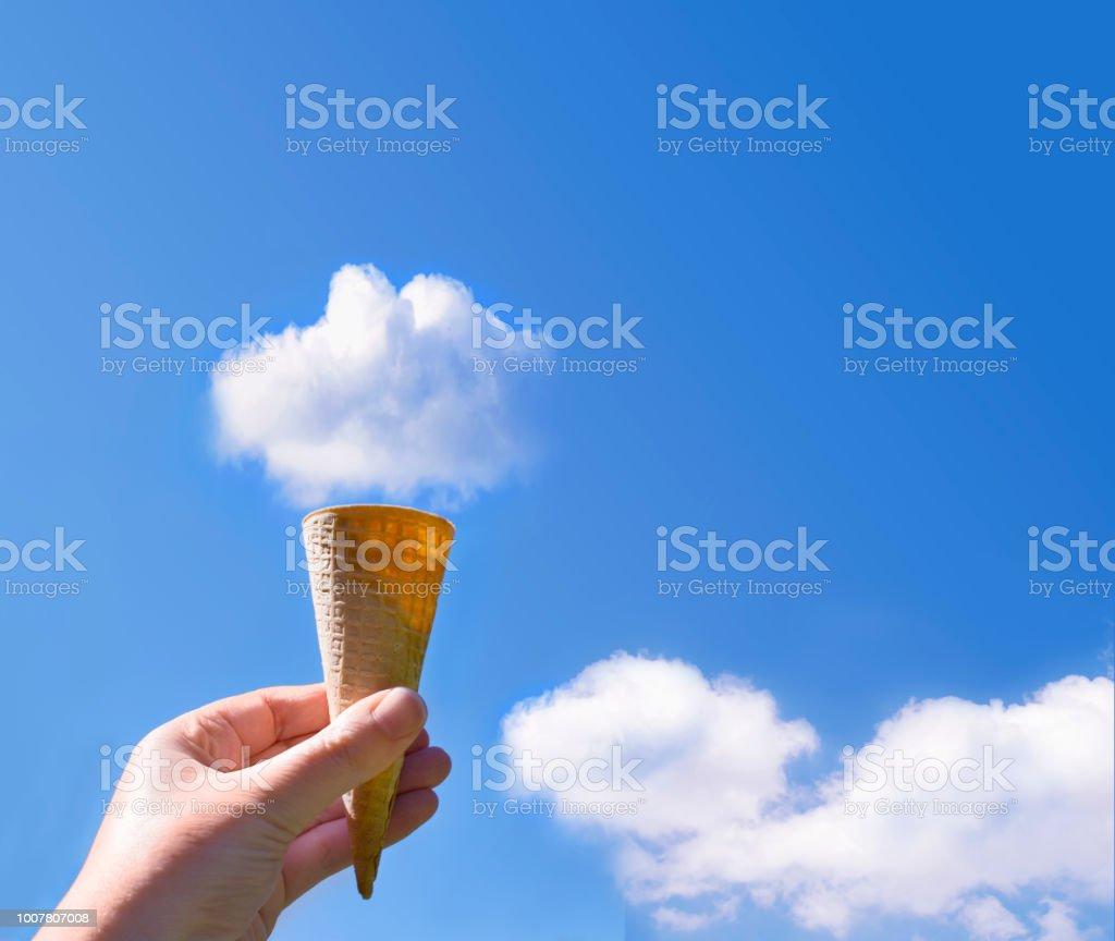 Cloud Ice Cream Cone stock photo