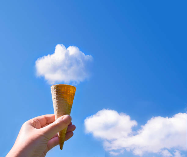 cloud ice cream cone - foto di ice cream foto e immagini stock