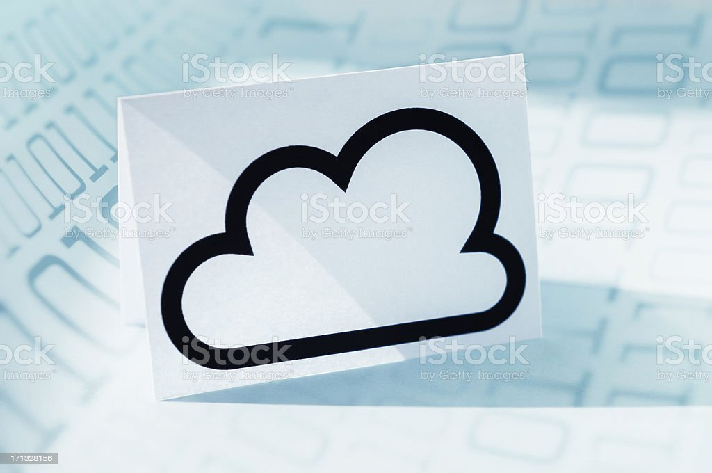Cloud icon and binary code royalty-free stock photo