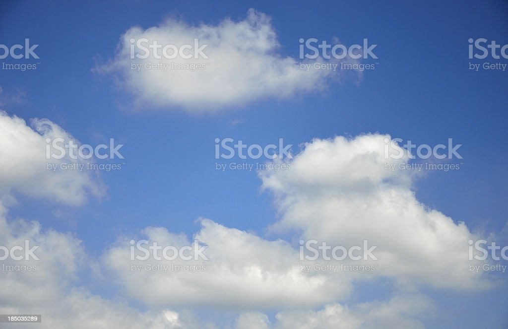 Cloud in blue sky royalty-free stock photo