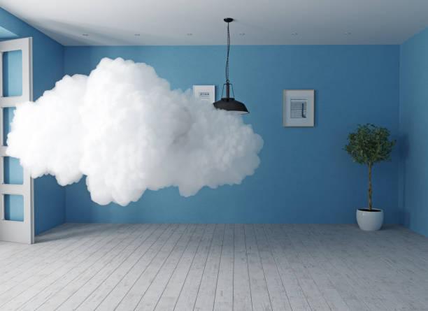 nube en la habitación. - foto de stock