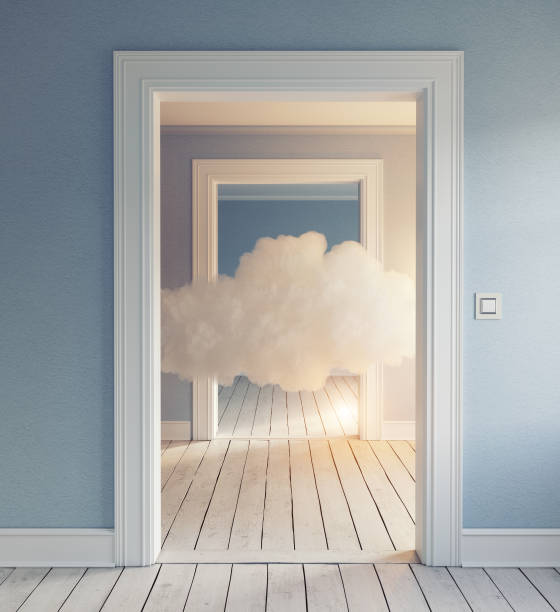 cloud in the room. stock photo
