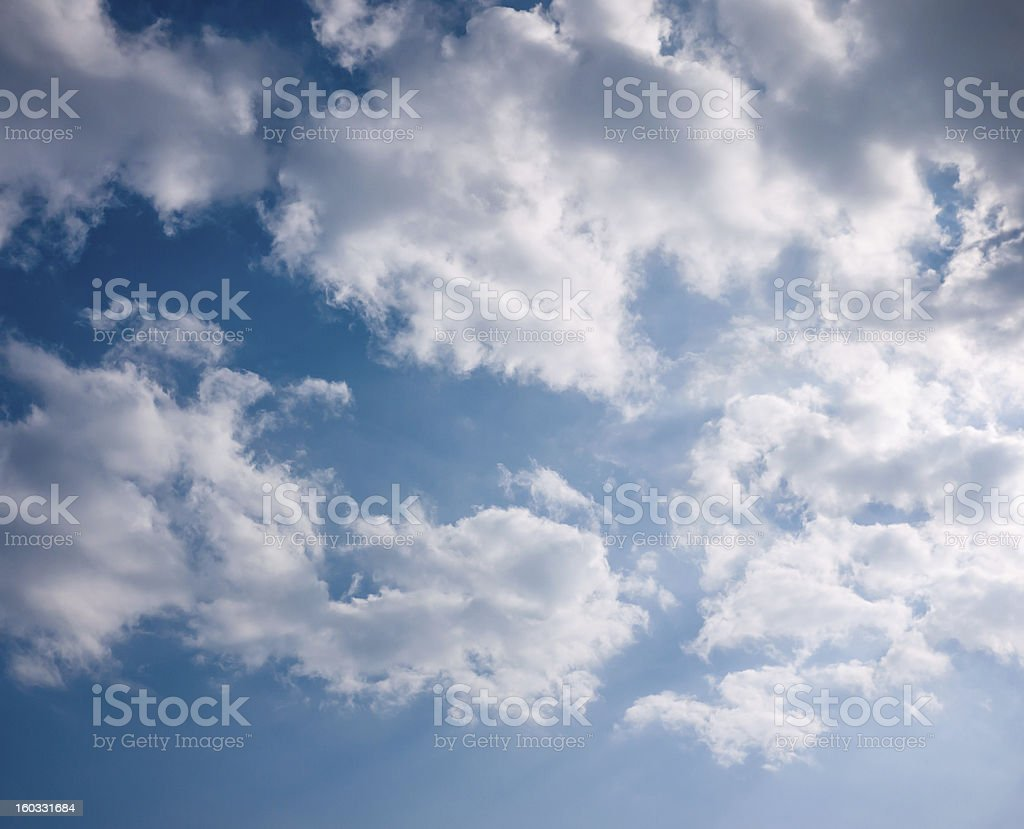 cloud in timid sky with shade of light royalty-free stock photo