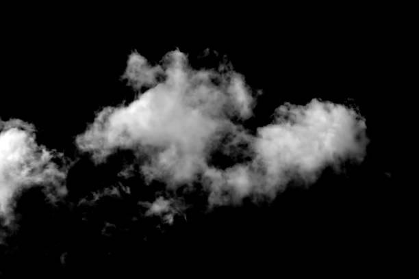 cloud isolated on a black background - прозрачный стоковые фото и изображения