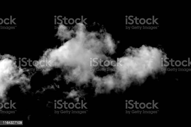 Photo of Cloud isolated on a black background