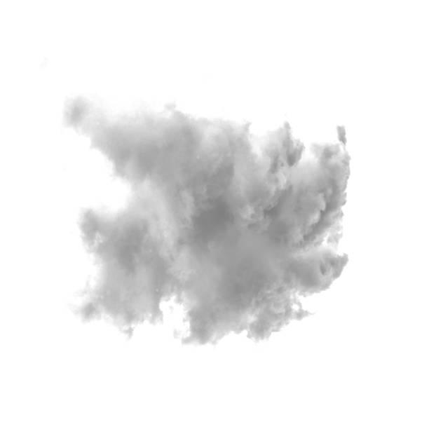 cloud isolated on a white background - fumo materia foto e immagini stock