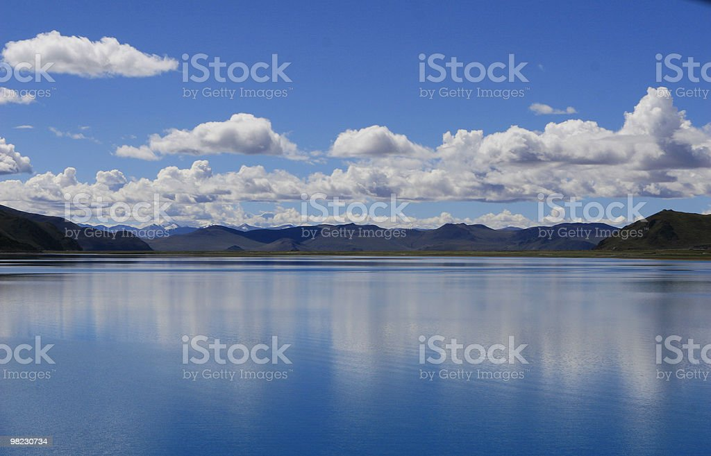 cloud & lake royalty-free stock photo