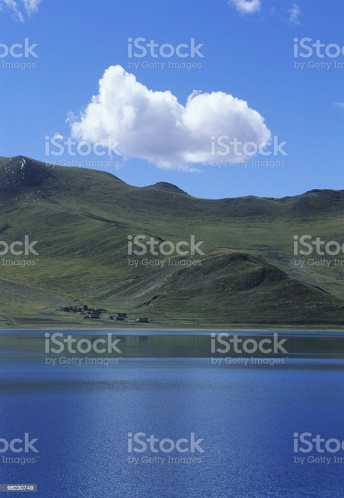 cloud & lake royalty-free stock photo