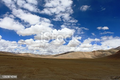 Clouds in cold desert