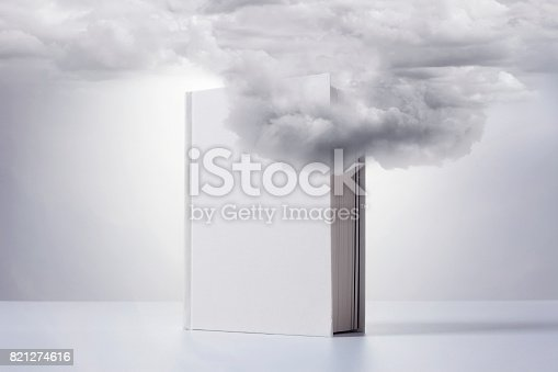 istock Cloud Network And Book 821274616