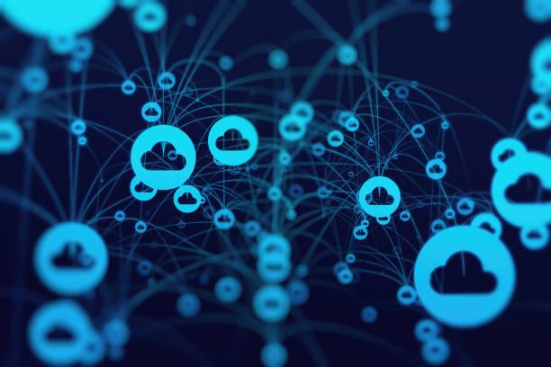 Cloud-Netzwerk und Computing – Foto