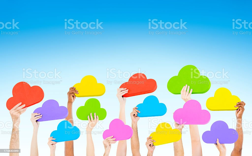 Cloud network royalty-free stock photo