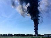 Cloud of fire smoke.